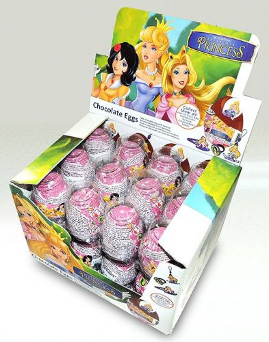 FAIRY01 FAIRYTALE PRINCESS CHOCOLATE EGG x24